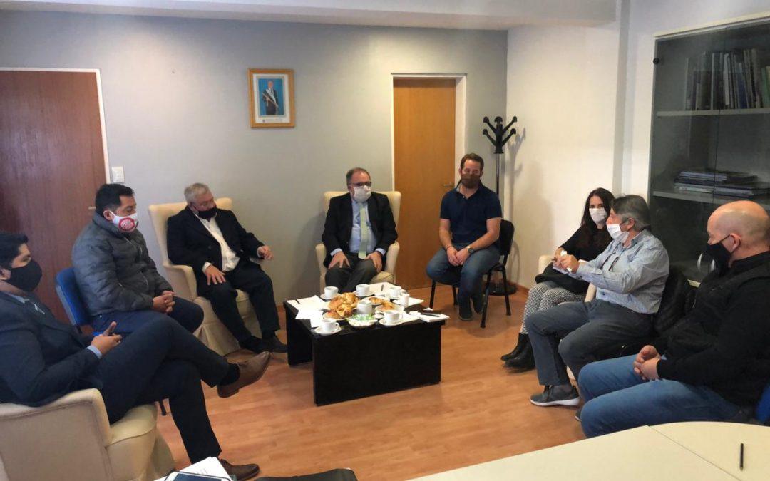 Jefes Comunales de Telsen, Gan Gan y Gastre con Funcionarios Provinciales